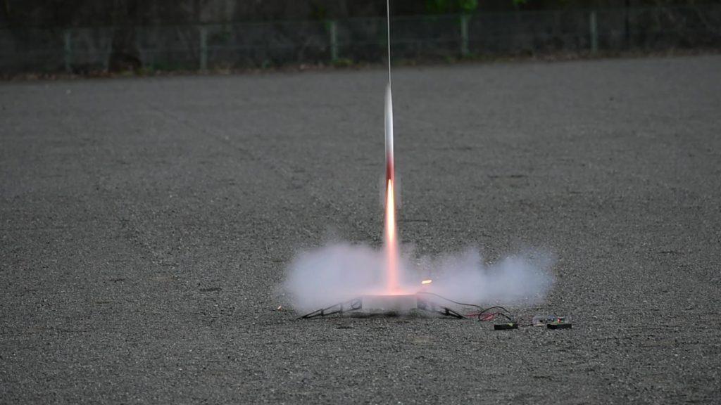モデルロケット宗谷の打ち上げ